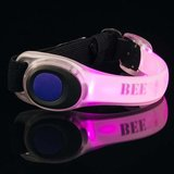 Bee Seen Led Safety Band Paars_