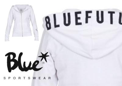 Blue Sportswear Feline Hood Jacket Wit